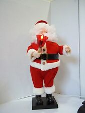 """VINTAGE TELCO MOTIONETTE ANIMATED SANTA CLAUS CHRISTMAS DECOR  25"""" tall"""