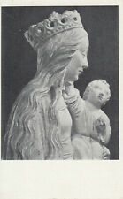 MADONNA AND CHILD School of Troyes Art Postcard