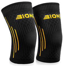 Compression Knee Support Sleeves Brace Running Gym Injury Pain Relief Large X2