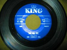 Earl Connelly King - Here I Stand / Time Will Tell - EX Vinyl King #4682