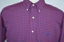 Ralph Lauren Medium Classic Fit Multi-color Check Long Sleeve Dress Shirt Polo