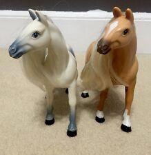 Lot of 2 Vintage Horse Figurine Plastic Sculpture Childs Toy