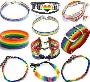 Pride Bracelet Rainbow Friendship LGBTQ Unisex Wristband Lesbian Gay Trans LGBT
