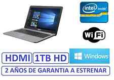 "PORTATIL ASUS 15"" INTEL 1 TB grafica HDMI  1756mb WINDOWS WIFI, factura garantia"