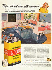 1947 vintage AD  JOHNSON'S GLO COAT  Floor Wax Polish household product  -120514