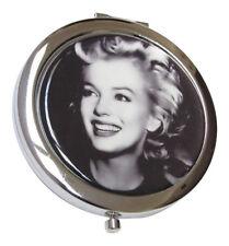 Miroir de poche double face imprimé Marilyne Monroe. B2.