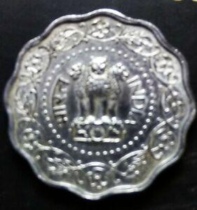 India Republic 10 paise 1982 Uni face error coin.