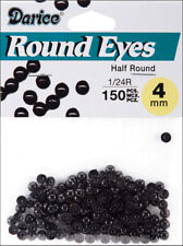 Darice Half Round Bead Eyes Black 4mm