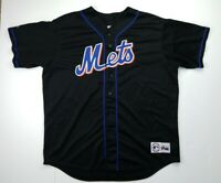 Majestic New York Mets Stitched Black Jersey mens Size XL