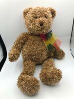 Gund Bearessence Teddy Bear Rainbow Bow Plush Kids Soft Stuffed Toy Animal Doll