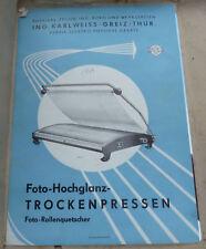 Foto-Hochglanz-TROCKENPRESSE Foto-Rollenquetscher Karlweiss GREIZ 50er 60er DDR