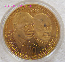 MED5688 - MEDAILLE 10 EURO DE GAULLE & ADENAEUR 1998