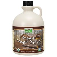 NOW Foods Maple Syrup, Organic Grade A Dark Color (formerly Grade B), 64 oz