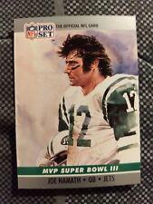 1990 Pro Set Football Card MVP #3 Joe Namath