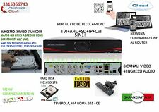 DVR IBRIDO 1TB 5IN1 NVR CVI TVI HVR AHD ANALOG 8 CH CANALI FULL 1080P CLOUD 3G