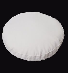 pc502r Off White Round Water Proof PVC/PU Thick Mattresses Cushion Cover Custom