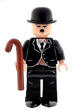 Custom Designed Minifigure - Comedy Charlie Chaplin Printed On LEGO Parts