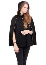 Anastasia Women's Hooded Winter Cape Black Size UK 18 LF180 QQ 01