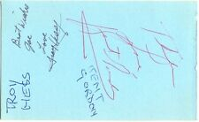 Troy Hess + Kent Gordon + B. F. Snow signed autograph page 1980s country singers