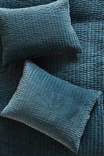 Anthropologie Kantha Stitched Blue King Sham Set-$98 MSRP