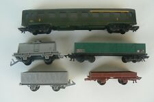 JOUEF Ho lot de 5 wagons voyageurs marchandises avec anciennes attaches