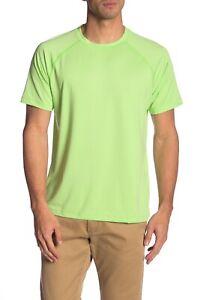 Peter Millar Men's Pomelo Rio Technical Crew-Neck Raglan Short Sleeve Shirt