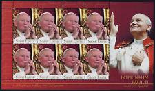 St Lucia 1211 Sheet MNH Pope John Paul II