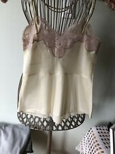 Vintage Satin & Lace Camisole. Custom made! Size S Beautiful! Preowned