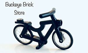 Lego  Black Bicycle - Minifig Town City Riding Vehicle Classic