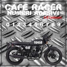 ADESIVO NUMERO VINTAGE SCRAMBLER MOTO D'EPOCA RICAMBIO VINILE PVC + OMAGGIO