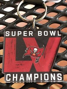 """NFL Super Bowl LV 55 Tampa Bay Buccaneers Champions Keychain 2""""x 1.75"""" WinCraft"""