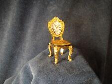 Bulova King Louis XIV Rococo Chair Miniature Gold B0403