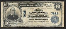 US National (Scarce) First Nat'l Bank of Woodstock, MN - $10.00 - CH7625 - FINE