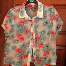 Girls new look floral blouse. age 14 years