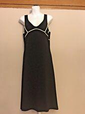 BCBG Max Azria Medium Sweater Dress Black Graphic Wool Blend Stretchy SEXY