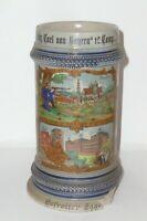 Age Reservist Jug Ir 3 Augsburg Bavaria Jug Beer Mug Stone 1.WK Beer Stein