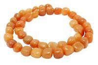 😏 Roter Aventurin Perlen Nuggets ca. 10 mm Edelsteinperlen Strang für Kette 😉