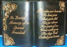 LATTICE Craft Stampo per particolari Grandad LIBRO Memorial Art & Crafts Hobby