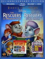 The Rescuers / The Rescuers Down Under (35th Anniversary Edition) [New Blu-ray]