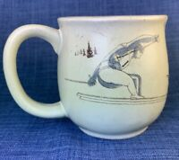 Otagiri Skiing Down Hill Skier Coffee Mug Vintage Ski Ceramic Round Belly Cup