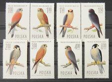 - Polen Poland 1975 Mi. Nr. 2354-2361 ** postfrisch MNH Vögel birds of prey
