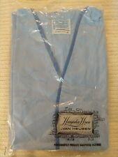 Vintage Van Huesen Leisurewear Lounge Coat. Size D, Light Blue. Belted, pockets