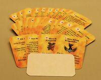 Orakelkarten 32 Karten mit Text Bedeutung - Symbolkarten Pik Karo Herz Kreuz -