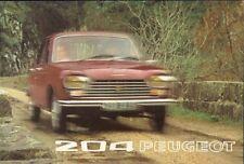 Peugeot 204 1972-73 UK Market Sales Brochure Saloon & Estate
