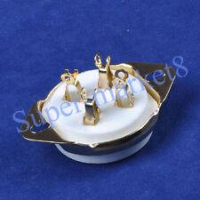 2pcs Gold Plate 2A3 300B 45 50 71 80 6A3 Ux4 Base Top 4Pin Ceramic Tube Socket