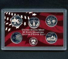 "2000 'S' USA Proof Silver ""State Quarter Set"" 5 Coins Encased"
