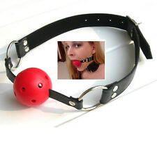 SM Sex Mouth Gag Woman Man Unisex Adult Games Ball Silicone Toys PU Leather