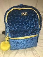 Betsey Johnson Back pack tote Teal blue. Medium sized velour w star pattern
