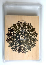 Stampin Up! Grand Fond médaillon bois Mounted Rubber Stamp