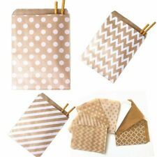 100Pcs Paper Bags Food Candy Craft Packaging Bag Wrapper Wedding Supplies Gift